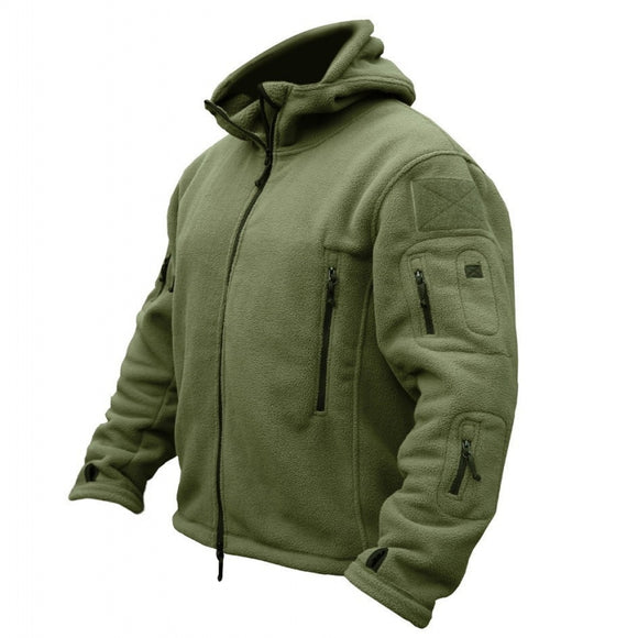 Winter Military Fleece Warm Tactical Jacket Men Thermal Breathable Hooded men Jacket Coat Outerwear Army