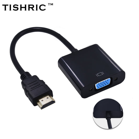 Original Chipset for PC Laptop Tablet for HDMI to VGA Adapter Converter for HDMI Cable Support Full HD 1080P HDTV forHDMI to VGA