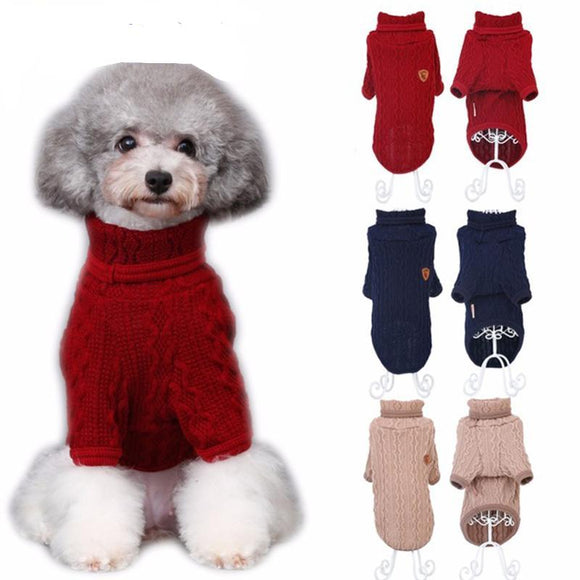 PETPETROL 2018 Classic Turtleneck Sweatshirt Knitwear Pet Coat Apparel 3 Colors