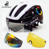 270g ultralight EPS bicycle helmet for men road mtb mountain bike helmet lenses goggles cycling equipment 9 vents Casco Ciclismo