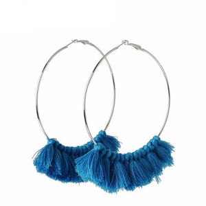 Tassel Big Hoop Earring