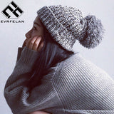 Fashion Pom Pom Hat For Women Grils Skullies Women's Beanies Warm Knitted Hat Female Winter Cap Brand Women Beanie Hat Wholesale