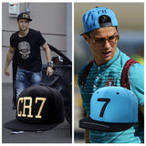2 Colors 2017 Cristiano Ronaldo CR7 Black Blue Baseball Caps hip hop Sports Snapback Football hat chapeu de sol bone Men women