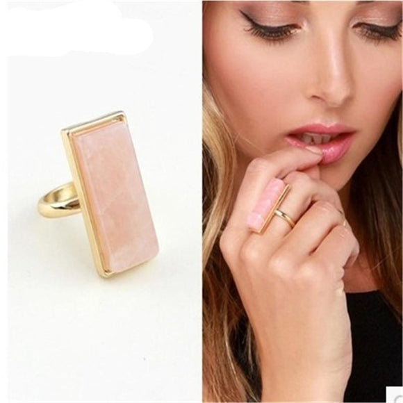 ATHENA 2018 Fashion Trendy Pink Crystal Big Rings For Women Zinc Alloy Summer Jewelry Anel Feminino Accessories Ring Aliexpress