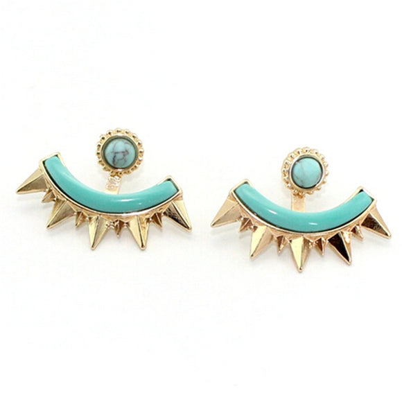 ATHENA 2018 Trendy Sale Earings Brincos New Exquisite Detachable Fanned Stud Earrings Fashion Charm Brand Jewelry For Women