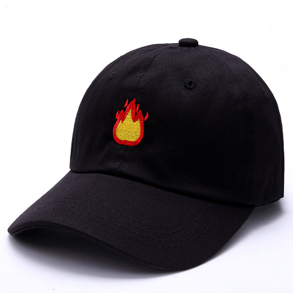 2017 Fashion Baseball Cap with FIRE Embroidery Men Hat Summer Fall Brand Cotton Black Caps Women Men hat trucker Dad Hats