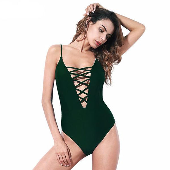 CORDELIA SWIMWEAR 2018 Bandage Crisscross Strap Monokini Bodysuit One Piece Swimsuit