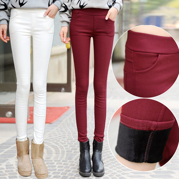 2017 autumn winter women pants velvet thickening pants trousers plus size S- XXXL 5 Colors female warm trousers dropshipping