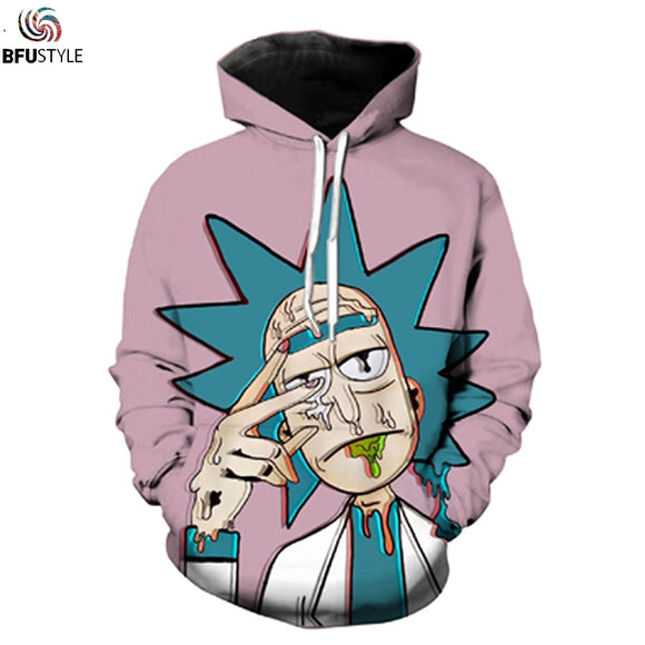 Rick and Morty Hoodie Sweatshirt 2017 Men/Women Cartoon 3D Funny Hoodies Casual Plus Size Clothing Brand Hooded Hoody Dropship