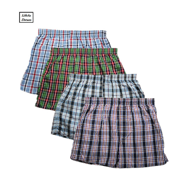 4PCS Mens Underwear Boxers Loose Shorts Men'S Panties Cotton Comfortable And Soft The Large  Arrow Pants At Home Underwear Men