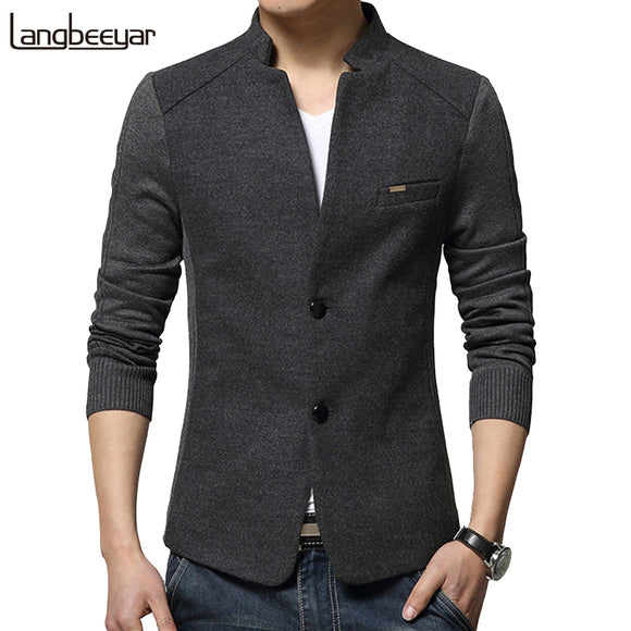Autumn Winter Fashion Men Wool Coat