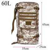 Hot Men's Military Backpack Waterproof Nylon School Bag Camouflage Backpacks Multi-function Men Travel Bags 2017 D088