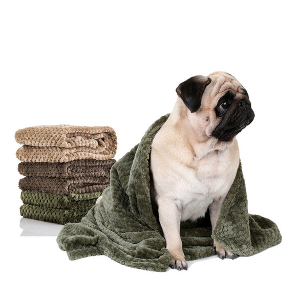 PETPETROL 2018 Absorbent Blanket Flannel Bath Towels Quick Dry Carpet Towel Pet Accessories