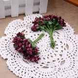 12PCS/lot Mulberry party Artificial Flower Stamen wire stem/marriage leaves stamen DIY wreath wedding box decoration Fake flower