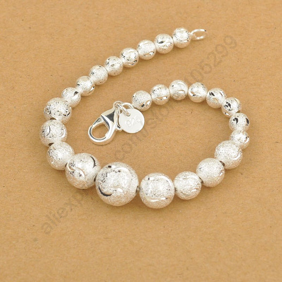 JEXXI Magic Chinese Lucky Bead Bracelet, 925 Sterling Silver Ball Elegant Woman Bracelet With Good Quality Lobster Charm Jewelry