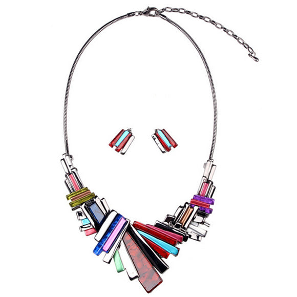 ATHENA 2018 Promotion Top Fashion Trendy Women Acrylic Collier Collares Necklace Jewelry Pendant Statement Necklaces Wholesale