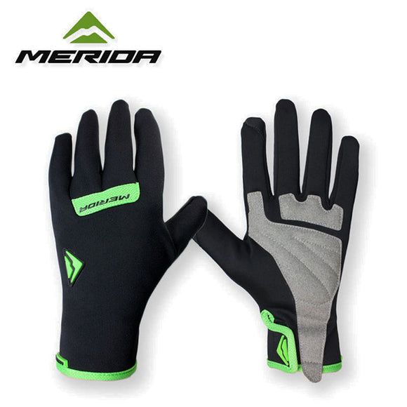 Merida Cycling Gloves for Men - Anti-Slip Grip, Winter- Friendly, and Waterproof