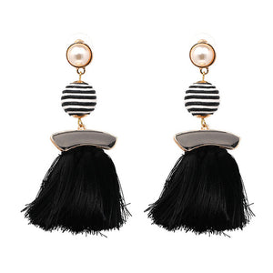 Boho Colorful Earrings For Women Vintage Statement Long Fringe Hanging Drops Luxury Tassel Earrings Pendientes Jewelry brincos