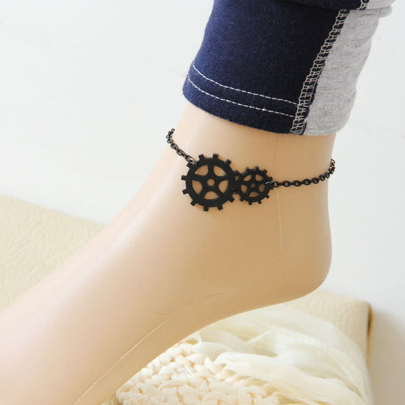 1PC New Fashion Womens Punk Jewelry Gothic Fresh Sweet Anklet Black