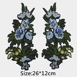 2pcs/Set Rose Flower Embroidery Patches Sticker for Clothes Parches Para La Ropa Applique Embroidery Flower Patches