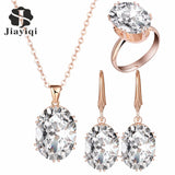 2017 Top Quality Luxury Rose Gold Engagement Jewelry Sets Cubic Zircon for Women Bridal Wedding Jewelry Sets