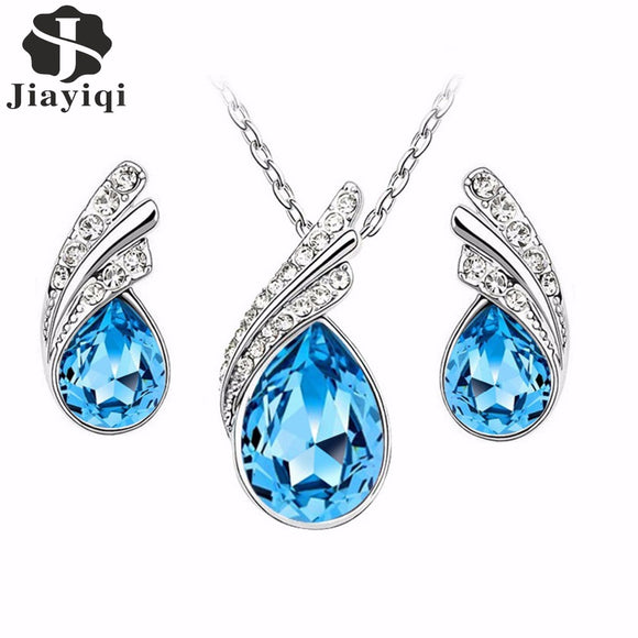 2017 Austrian Crystal Jewelry Sets For Women Fashion Jewelry & Jewelry Silver color Bridal Wedding Jewelry Sets
