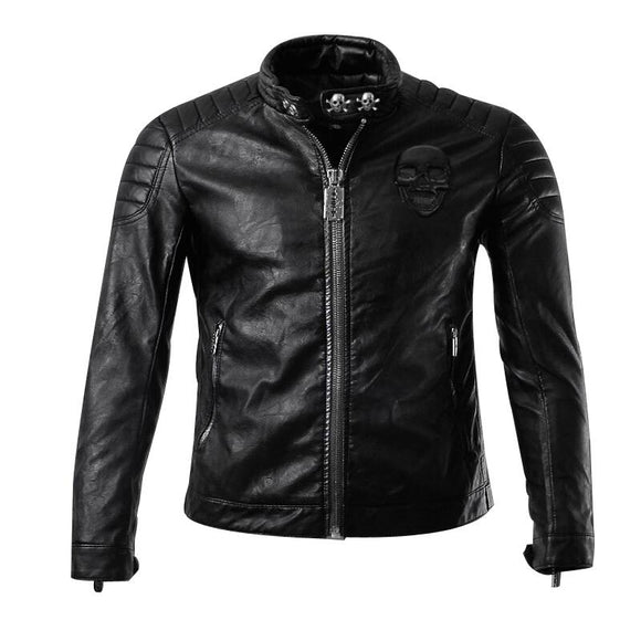 2017 new arrive Spring brand motorcycle leather jackets men ,men's leather jacket, casual collar leanther jacket caot men