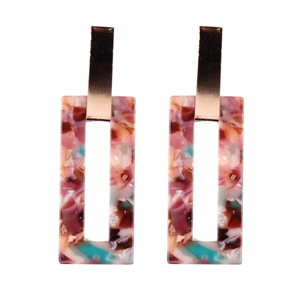 Resin Dangle Earrings Bohemian Design