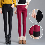 2017 women pants capris pencil pants fleece warm casual female trousers elastic Autumn Winter velvet thick leggings dropshipping