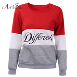 ArtSu 2017 Autumn and winter women fleeve hoodies printed letters tracksuit women's casual sweatshirt hoody sudaderas EPHO80027