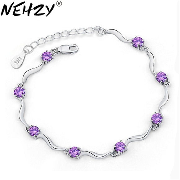 Brand silver bracelet four feet eight female models crystal bracelet cute fashion jewelry wild retro jewelry super flash 17.5CM