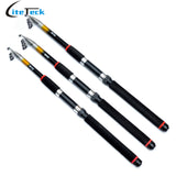 2.1/ 2.4/2.7M Telescopic Fishing Rod Portable Glass Fiber Carp Fishing Rod Spinning Fishing Pole for Outdoor Sports Pesca