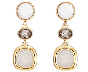 ATHENA 2018 Classic Geometric Crystal Zinc Alloy Charming Statement Earrings