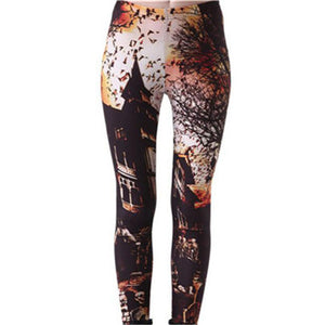 Fashion Sexy Hot Sale New Novelty 3D Printed Fashion Women Leggings Space Galaxy Leggins Tie Dye Fitness Black Milk Pant K133