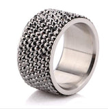 Wholesale 316L Stainless Steel Crystal Pave Rings birthday gift Free Shipping