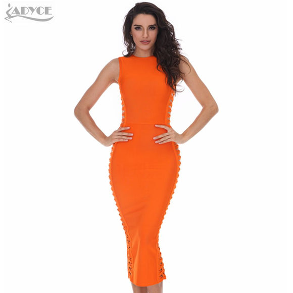 ADYCE 2017 winter dress women sexy Celebrity party dresses bandage dress Runway Bodycon Dress O-Neck hollow out  Club Vestidos