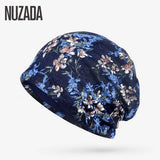 Brand NUZADA Autumn Women Hedging Cap Skullies Beanies Knitting Caps Bonnet Double Layer Cotton Knitted Hat Lace Cap Spring