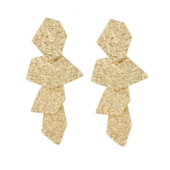 ATHENA 2018 Boho Gold Color Punk Irregular Metal Stud Earrings For Women