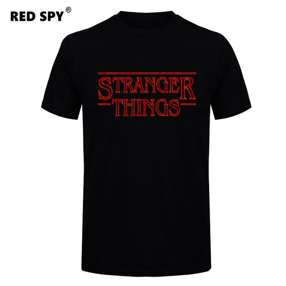 Stranger Things Men T Shirt Cotton Short Sleeve