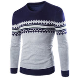 Brand New Sweaters Men Fashion Style Autumn Winter Patchwork Knitted Quality Pullover Men O-Neck Casual Men Sweater XXL