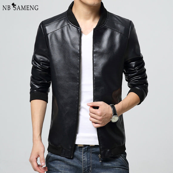 2017 New Arrival Leather Jackets Men jacket Male Outwear Men's Coats Spring & Autumn Brand PU Jacket De Couro Coat Plus Size