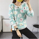 2018 Woman Korean Pink Cartoon Fleece Sweatshirts Polka Dot Animal Velvet Pullover Hoodies Fall Winter Long Sleeve Tracksuit