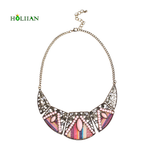 2017  women fashion bohemian necklace&pendants modern hippie vintage big name choker necklace tribal ethnic boho mujer accessory