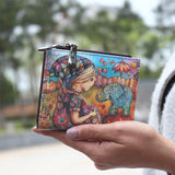 New Fashion cartoon wallet brand designed women short wallet with zipper female printed purse card holder carteira boho style