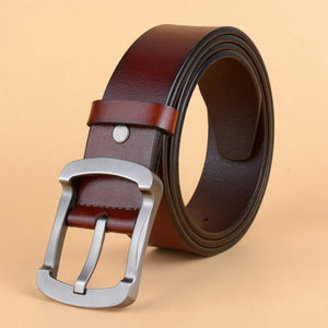 Fashion Belt Pin Buckle Male Leather Casual Waist Jeans Strap for Men