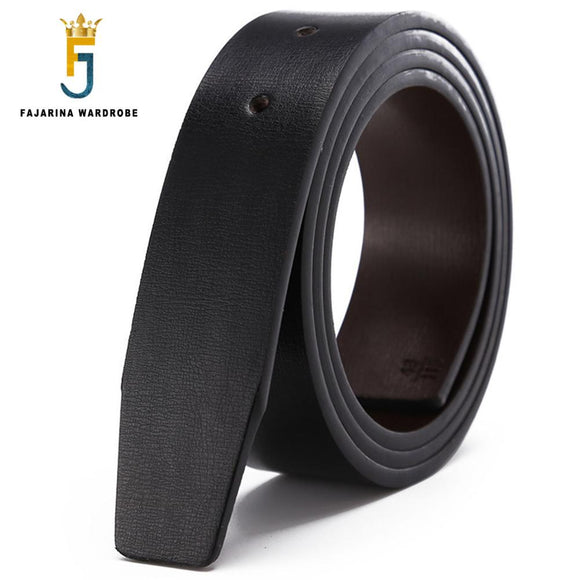 Excellent Quality Solid Color The Second Layer Genuine Leather Cowhide for Smooth Slide Styl Belts without Buckle