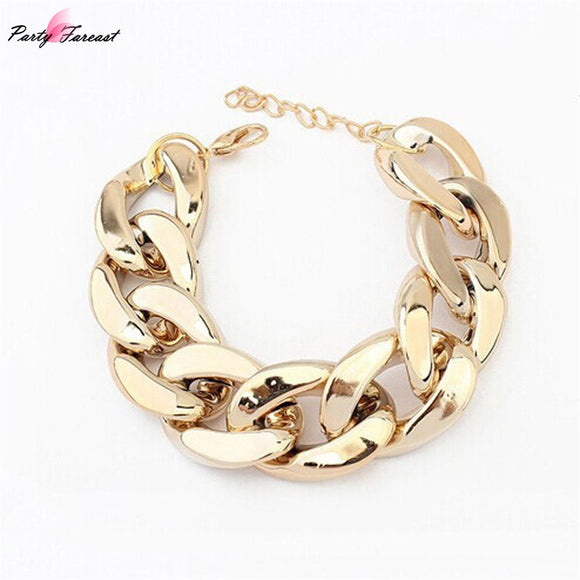 Fashion Biker Gold Bracelet Jewelry Surgical Stainless Steel Foxtail Silver Chain Bracelets For Women Men Cool Accessory Gift