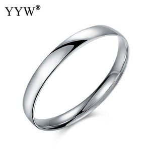 Brand-new Simple Design 925 Sterling-silver Bracelet Big Circle Jewelry Flattened Bangles Daily Casual Style Bracelet pulsera