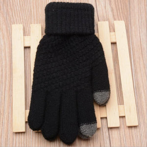 4 Colors Women Gloves Warm Imitation Cashmere Knitted Female Gloves Winter Ladies Warom Lovely Fashion Winter Gloves Mittens