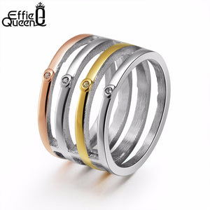 53 - Unique Design Titanium Stainless Steel Rings
